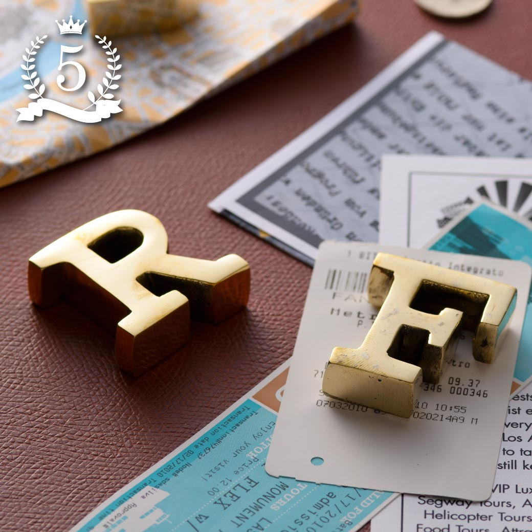 BRASS LETTER PAPER WEIGHT