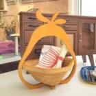 BAMBOO BASKET COLOR YELLOW (PEAR)