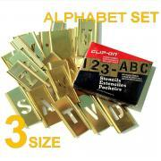 CLIP-ON BRASS STENCIL KIT. ALPHABETS