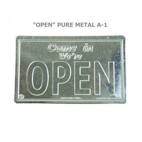 [OPEN] METAL SIGN PLATE
