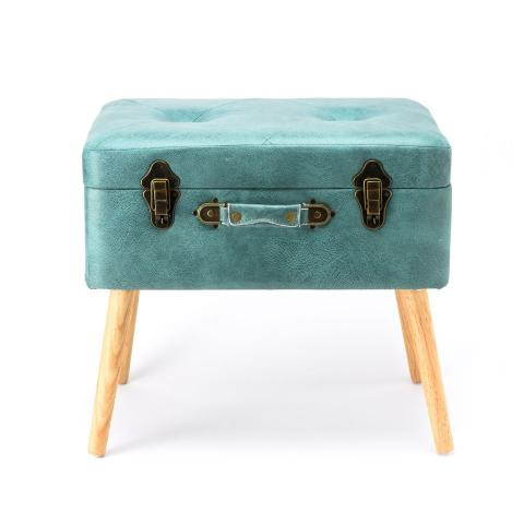 [Turquoise] TRUNK STOOL