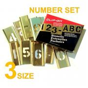 CLIP-ON BRASS STENCIL KIT. NUMBERS