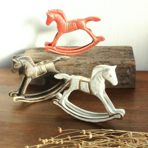 CAST IRON ROCKING HORSE